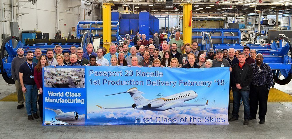 Middle River Aircraft Systems delivery celebration