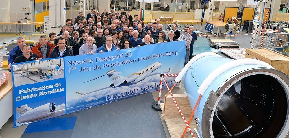 Safran Nacelles celebrates delivery of the first production-definition nacelles for Bombardier's Global 7000